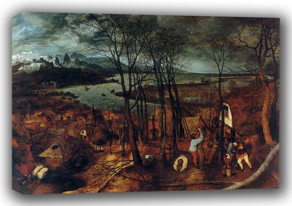 Bruegel the Elder, Pieter: The Gloomy Day - Spring. Fine Art Canvas. Sizes: A3/A2/A1 (00866)